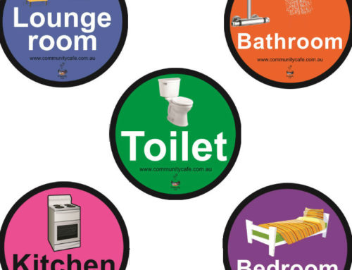 The Home Navigation Set of Stickers for people with dementia